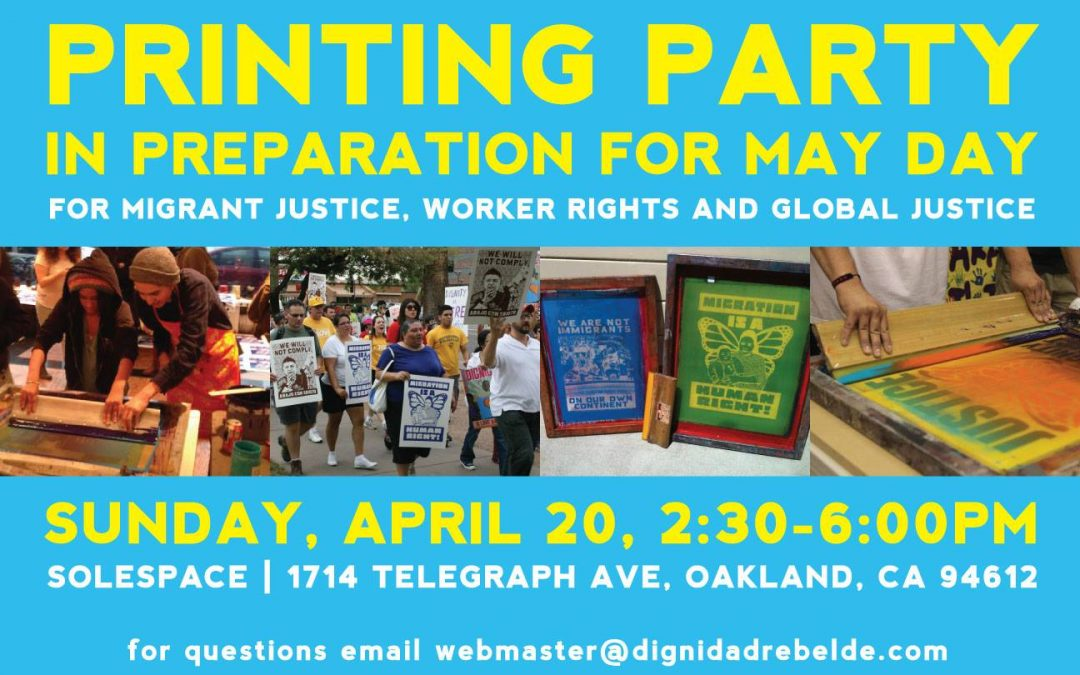 May Day Print Party