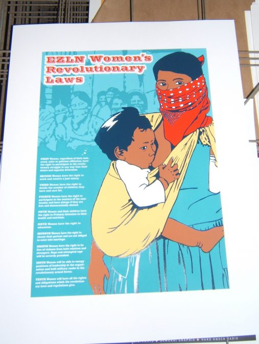 EZLN Women Law's Poster