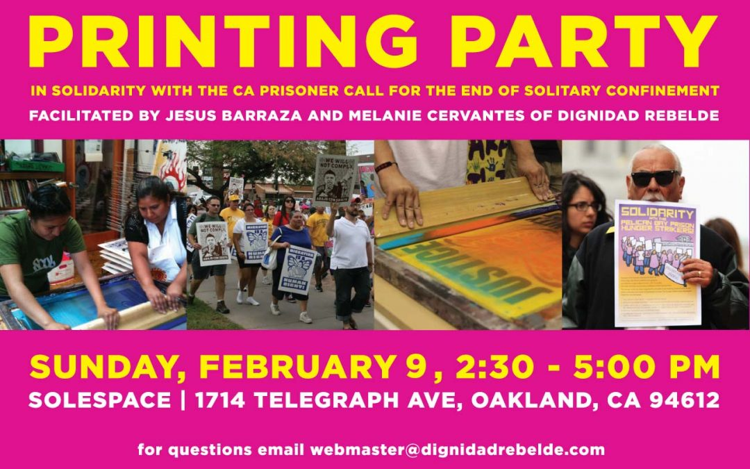Print Party -Abolish Solitary Confinement
