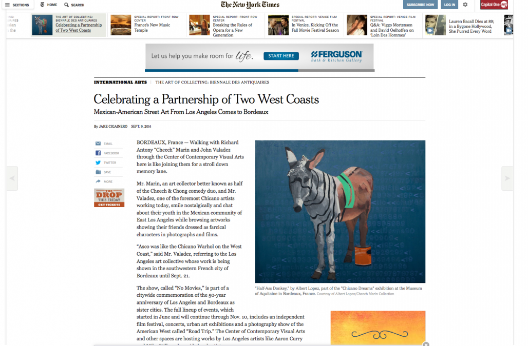 """Chicano Dream"" in the New York Times"