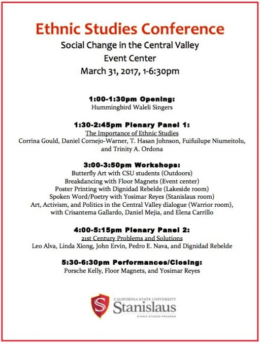 Ethnic Studies Conference: Social Change in the Central Valley