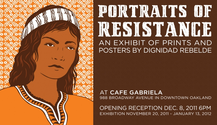 Exhibit at Cafe Gabriela in Oakland