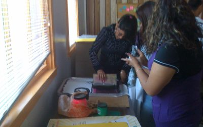 Making art for the '09 May Day Mobilization